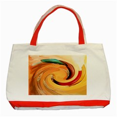 Spiral Abstract Colorful Edited Classic Tote Bag (red)