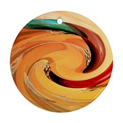 Spiral Abstract Colorful Edited Round Ornament (two Sides)