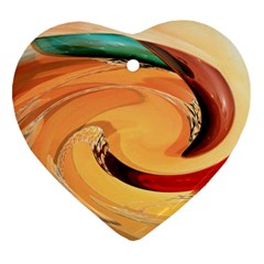 Spiral Abstract Colorful Edited Heart Ornament (two Sides)
