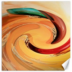 Spiral Abstract Colorful Edited Canvas 16  X 16