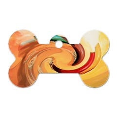 Spiral Abstract Colorful Edited Dog Tag Bone (two Sides)