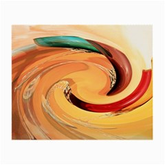 Spiral Abstract Colorful Edited Small Glasses Cloth (2 Side)