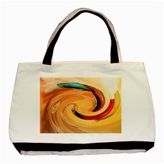Spiral Abstract Colorful Edited Basic Tote Bag (two Sides)