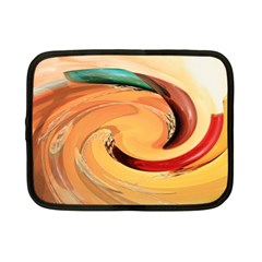 Spiral Abstract Colorful Edited Netbook Case (small)  by Nexatart