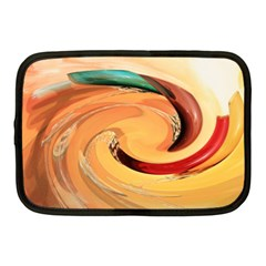 Spiral Abstract Colorful Edited Netbook Case (medium)