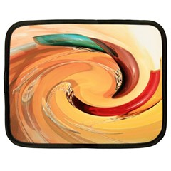 Spiral Abstract Colorful Edited Netbook Case (large)