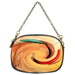 Spiral Abstract Colorful Edited Chain Purses (one Side)