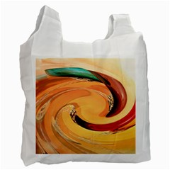 Spiral Abstract Colorful Edited Recycle Bag (one Side)