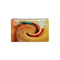 Spiral Abstract Colorful Edited Cosmetic Bag (small)