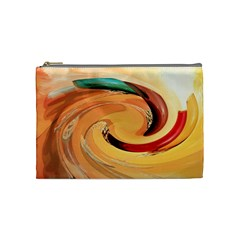 Spiral Abstract Colorful Edited Cosmetic Bag (medium)