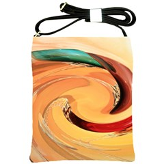 Spiral Abstract Colorful Edited Shoulder Sling Bags