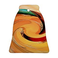 Spiral Abstract Colorful Edited Bell Ornament (two Sides)