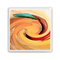 Spiral Abstract Colorful Edited Memory Card Reader (square)