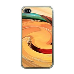 Spiral Abstract Colorful Edited Apple Iphone 4 Case (clear)