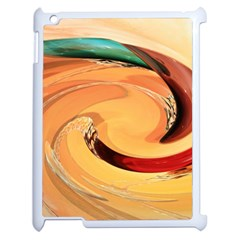 Spiral Abstract Colorful Edited Apple Ipad 2 Case (white)