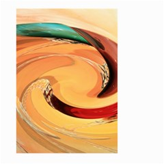 Spiral Abstract Colorful Edited Large Garden Flag (two Sides)
