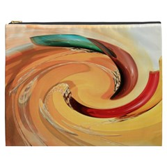 Spiral Abstract Colorful Edited Cosmetic Bag (xxxl)