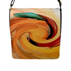 Spiral Abstract Colorful Edited Flap Messenger Bag (l)