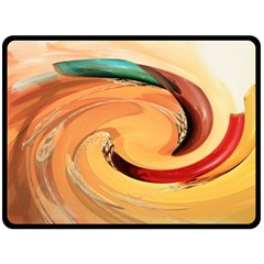 Spiral Abstract Colorful Edited Double Sided Fleece Blanket (large)  by Nexatart