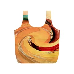 Spiral Abstract Colorful Edited Full Print Recycle Bags (s)