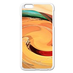 Spiral Abstract Colorful Edited Apple Iphone 6 Plus/6s Plus Enamel White Case
