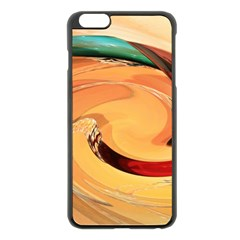 Spiral Abstract Colorful Edited Apple Iphone 6 Plus/6s Plus Black Enamel Case