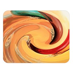 Spiral Abstract Colorful Edited Double Sided Flano Blanket (large)