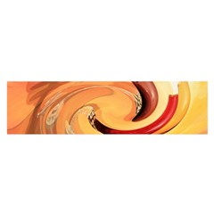 Spiral Abstract Colorful Edited Satin Scarf (oblong)