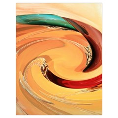Spiral Abstract Colorful Edited Drawstring Bag (large)