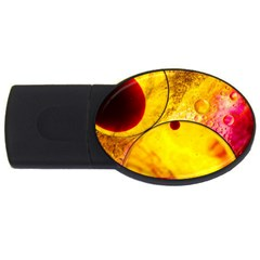 Abstract Water Oil Macro Usb Flash Drive Oval (2 Gb)