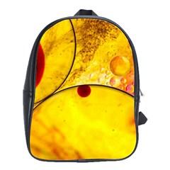 Abstract Water Oil Macro School Bag (large)