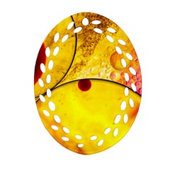 Abstract Water Oil Macro Ornament (oval Filigree)