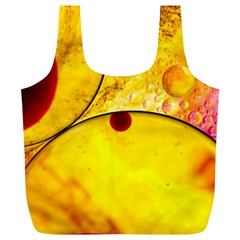 Abstract Water Oil Macro Full Print Recycle Bags (l)