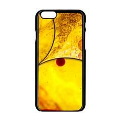 Abstract Water Oil Macro Apple Iphone 6/6s Black Enamel Case