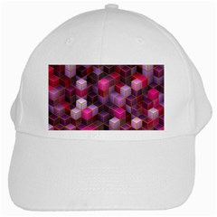 Cube Surface Texture Background White Cap