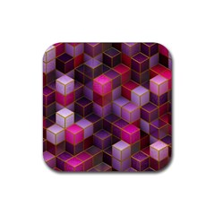 Cube Surface Texture Background Rubber Coaster (square)