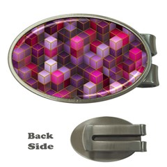 Cube Surface Texture Background Money Clips (oval)