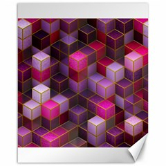 Cube Surface Texture Background Canvas 16  X 20