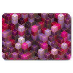 Cube Surface Texture Background Large Doormat