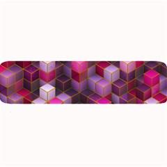 Cube Surface Texture Background Large Bar Mats