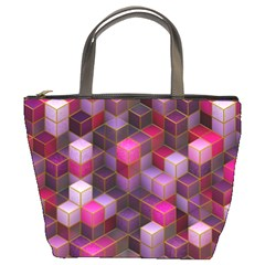 Cube Surface Texture Background Bucket Bags
