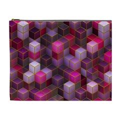 Cube Surface Texture Background Cosmetic Bag (xl)