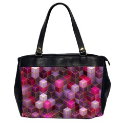 Cube Surface Texture Background Office Handbags (2 Sides)