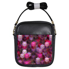 Cube Surface Texture Background Girls Sling Bags by Nexatart