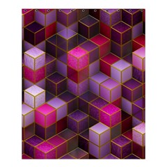 Cube Surface Texture Background Shower Curtain 60  X 72  (medium)