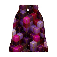 Cube Surface Texture Background Ornament (bell)