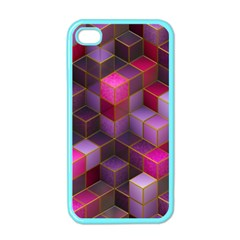 Cube Surface Texture Background Apple Iphone 4 Case (color)