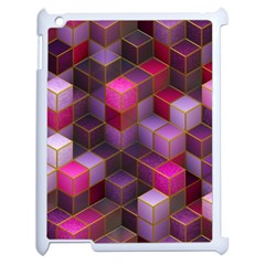 Cube Surface Texture Background Apple Ipad 2 Case (white)