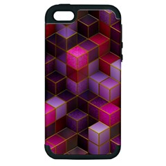 Cube Surface Texture Background Apple Iphone 5 Hardshell Case (pc+silicone)