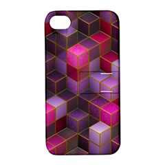 Cube Surface Texture Background Apple Iphone 4/4s Hardshell Case With Stand